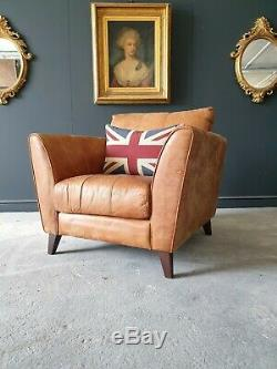 10. Superb tan Leather Vintage Armchair Mid Century Style DELIVERY AV