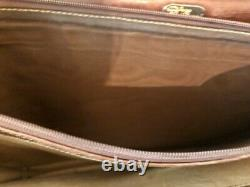 1970's RARE VINTAGE GUCCI leather / Canvas briefcase / attache with combo lock