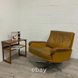 1970s Vintage De Sede DS-35 Swivel Lounge Chair in Cognac leather /2