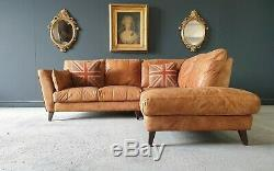 21. Superb Vintage tan 4 Seater Chesterfield Corner Sofa Delivery Avail
