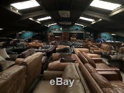 3 Seater Sofa Tan Leather vintage distress RRP £1950