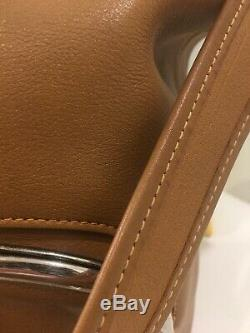 70s Vtg BONNIE CASHIN for MEYERS Brit Tan Leather KISSLOCK Shoulder Bucket Bag