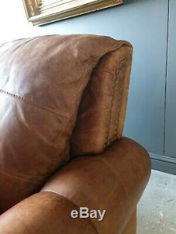 910. Chesterfield Tan Brown Leather Vintage 2 Seater DELIVERY AVAILABLE