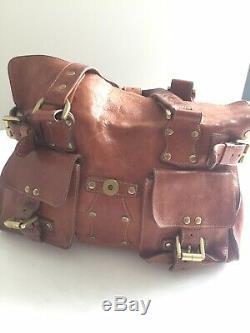 AUTHENTIC Vintage Mulberry Roxanne Shoulder Satchel Bag, Tan