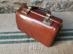 A Vintage Tan Leather Gladstone Bag by Revelation