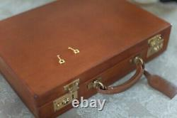 Attache Briefcase by Swaine Adeney Brigg, Vintage Leather, London Tan Patina