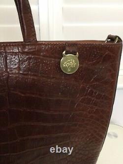 Authentic Mulberry Vintage Oak Kenya Leather Grab Bag. VG Condition