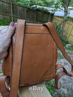Authentic Vintage Burberry Tan Soft Leather Backpack