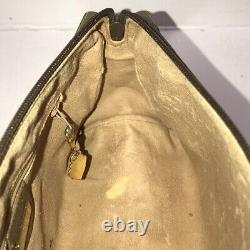 Authentic Vintage Gucci GG Supreme Canvas Brown/Tan Crossbody Barrel Satchel Bag