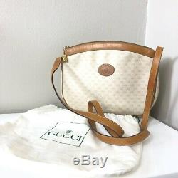 Authentic Vintage Gucci Tan & Cream Logo Crossbody Bag Purse & Original Dust Bag