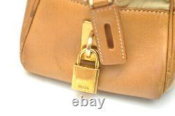 Authentic Vintage Prada Tessuto Mix Nylon / Leather Camel / Tan Tote Bag BR2524