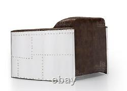 Aviator 2 Seater Sofa Tan Brown REAL Top Grain Vintage Leather Made To Order