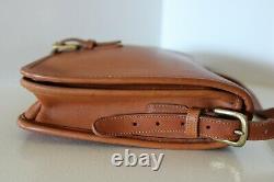 BEAUTIFUL Vintage COACH Tan SADDLE POUCH CROSS BODY SHOULDER BAG LARGE 9585