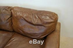 BROWN LEATHER 2 SEATER SOFA BY HALO THE VINTAGE TANNING COMPANY read details