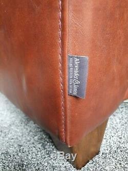 Beautiful Alexander & James Vintage Leather 2 Seater Sofa Tan