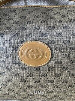 Beautiful Vintage Gucci 80s Light Brown and Tan Shoulder Bag Free Postage