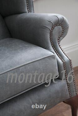 Bespoke Hayworth Vintage Tan Brown Leather Sofa RRP £1849