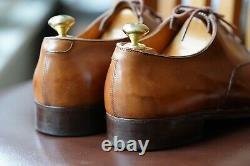 Bespoke Vintage Foster & Son Brogues Size 7/7.5E Antique Tan Calf