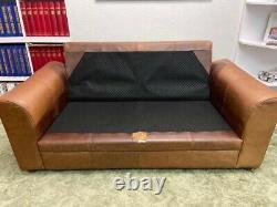 Brown leather 2 Seater sofa By Halo The Vintage Tanning Company
