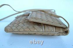CLEAN Vintage BOTTEGA VENETA INTRECCIATO Small Tan SHOULDER BAG HANDBAG ITALY