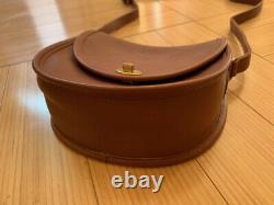 COACH 9981 Vintage Watson Leather Saddle Flap Tan Gold Crossbody Bag