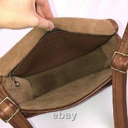COACH RARE NYC Vintage Tabac Tan Leather Rambler Messenger Crossbody Bag