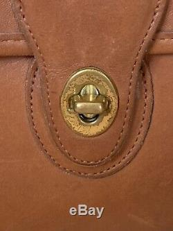COACH Tan Iconic Willis Top Handle Leather Crossbody Bag 0835-210 Vintage