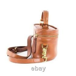 COACH Vintage British Tan Leather Train Case Trail Bag Crossbody #9955 RARE