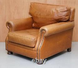 Chesterfield Tan Brown Vintage Club Leather Armchair