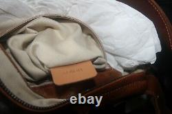 Chloé Vintage 2005 Natural Tan Calfskin Leather & Brass Small Shoulder Bag Chloe