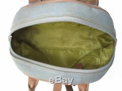 Chrisitan Dior Vintage Blue Denim Tan Leather Detective Satchel Bag