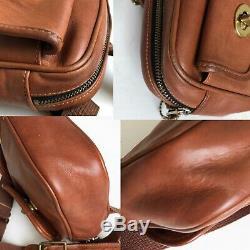 Coach Pocket Waist Pack Belt Bag Fanny Pack British Tan Leather Style 0516 VTG