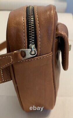 Coach Vintage Tan Leather Turnlock 2-Pocket Fanny Pack Waist Belt Hip Bag Purse