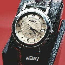 Collectible Rare Vintage Designer GUCCI Tan Women Watch Limited Edition. Round