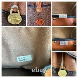 Dooney & Bourke Vintage Sherpa Teton Big Trail Backpack Bag H13 Brown Tan USA