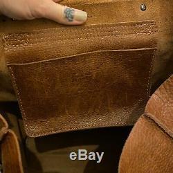 Dr Martens Large Tan Leather Backpack Bag Kiev Rucksack Brown Naturesse Rare Vtg