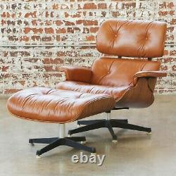 Eames 670 / 671 Vintage Leather Lounge Chair & Ottoman by Herman Miller