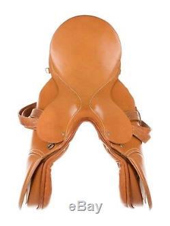 GUCCI vintage tan leather saddle equestrian English horse saddle 17'' 1980s RARE