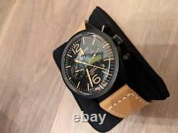 Genuine Bell & Ross Vintage Men's Tan Strap Watch BR-126-94-SC boxed & papers