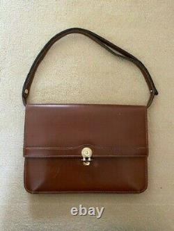 Genuine Christian Dior vintage tan leather handbag