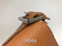 Genuine FENDI Tan Leather Selleria Vintage Baguette Bag with authentication