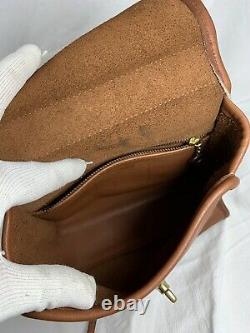 Genuine vintage COACH Regina 9983 tan leather crossbody shoulder bag with handle