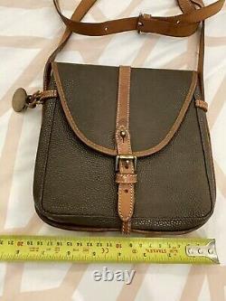 Gorgeous Vintage Scotch Grain Leather Saddle Cross-body Bag