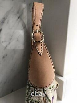 Gucci Authentic Vintage Jackie Floral Bag With Tan Leather Trim