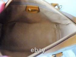 Gucci Supreme Coated Canvas Gg Monogram Tan Vintage Doctor Satchel Bag