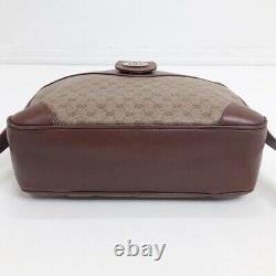 Gucci Vintage Brown & Tan Leather Crossbody Bag