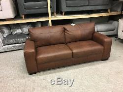 Hampshire 3 Seater Sofa in Vintage Tan Leather RRP £999