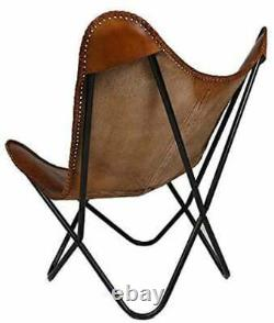 Handcrafted Ten Leather Butterfly Chair BKF Vintage Relax Chair Arm Chair Home