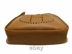 Hermes Vintage Evelyne GM Bag Tan Gold Leather