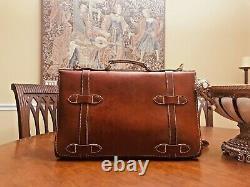 J. PETERMAN Vintage Tan Leather 1928 Aviator Briefcase/ Messenger Bag US Made